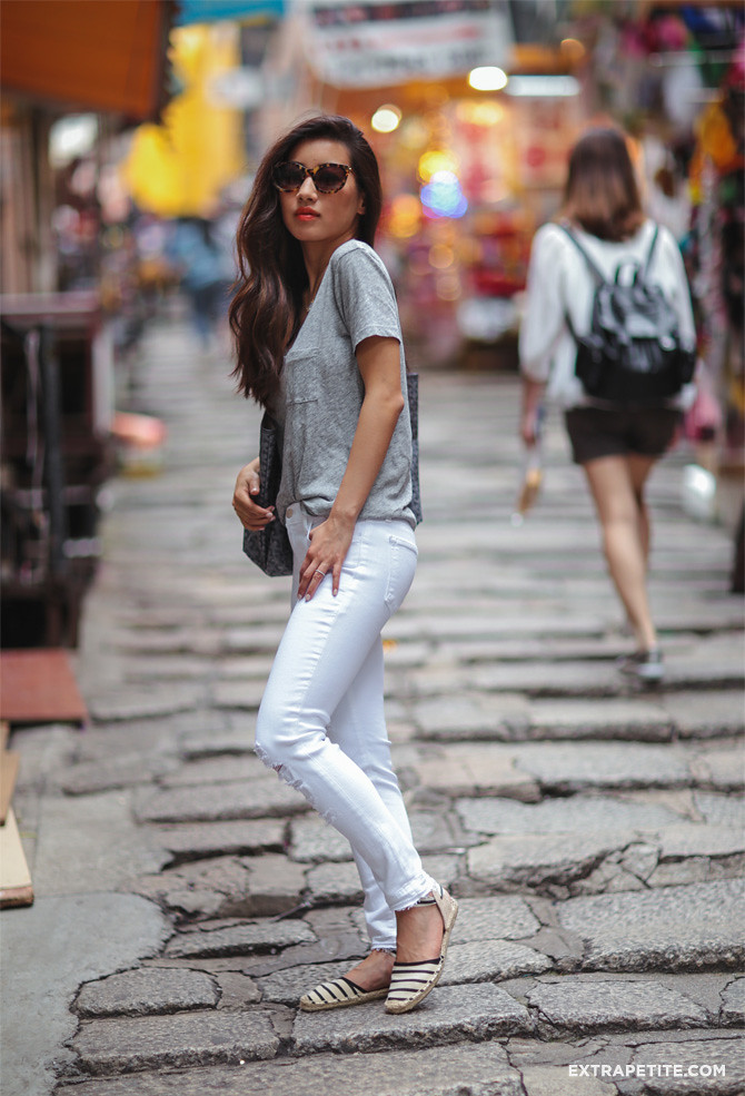 j brand white jeans outfit thierry lasry lively tortoise sunglasses