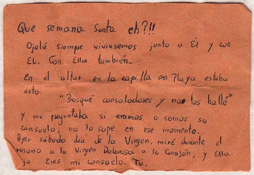 Cartas de Catalina a Gemita (Semana Santa 2015) 3