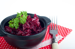 Salad of grated beets