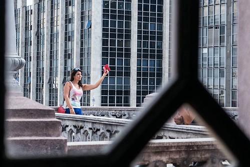 Sightseeing selfie... Vista para selfie...