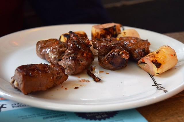 Griddled Lamb & Palm Hearts at Cabana, Covent Garden   www.rachelphipps.com @rachelphipps