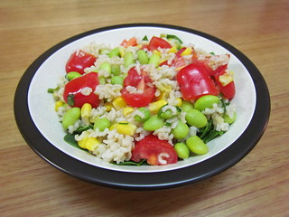 Succotash Pilaf with Grape Tomatoes