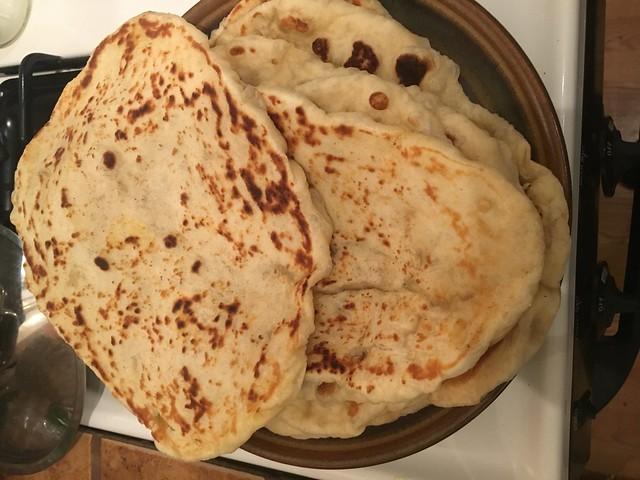 Naan bread and butter chucken