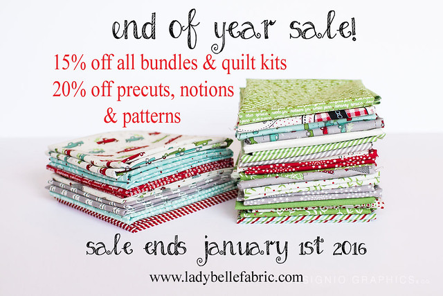Lady Belle Fabrics -- end of year sale