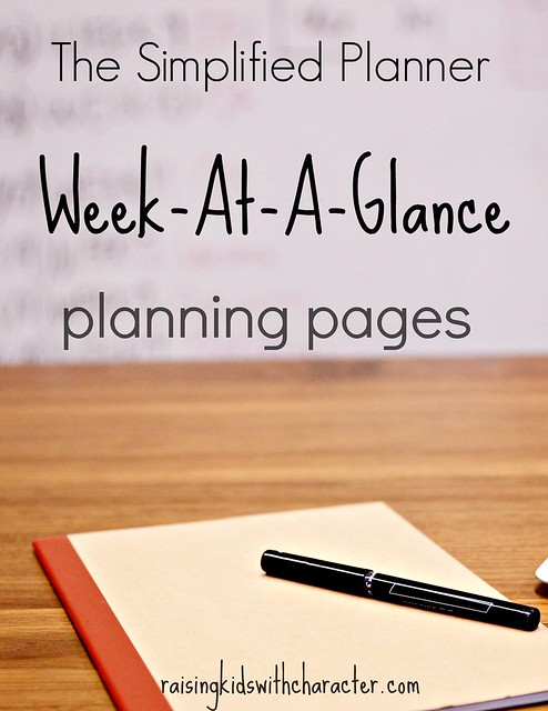 The Simplified Planner:  Week-At-A-Glance Planning Pages