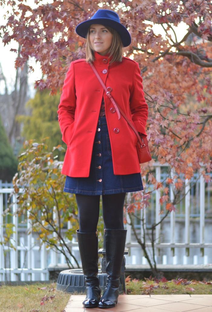 seventies, cappotto rosso, anni 70, HM, wildflower girl (2)