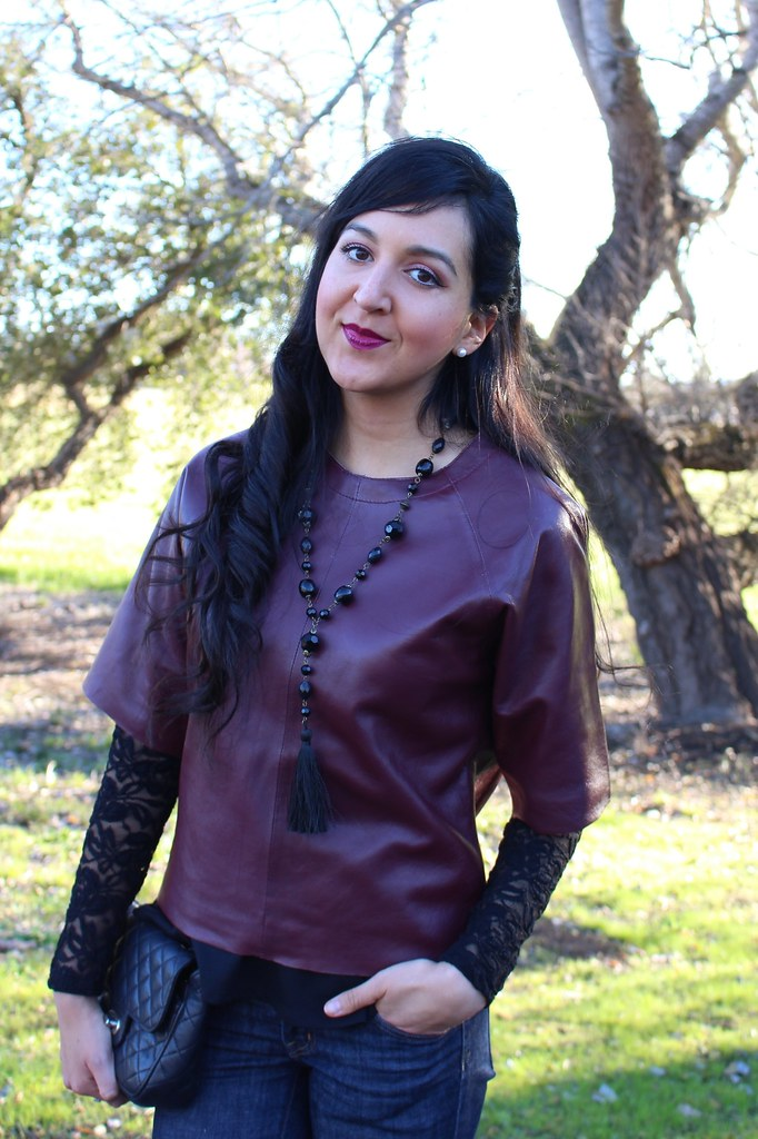 Layering with Leather and Peplum 8