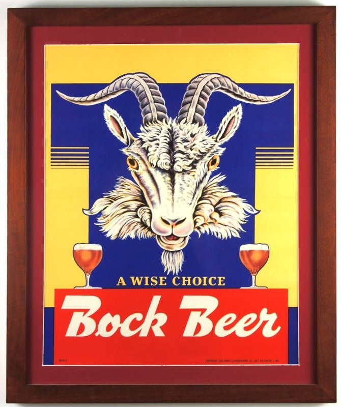 Stock-Bock-Beer-BB-25-S-Signs-Post-Pro-Gamse-Lithographing-1948
