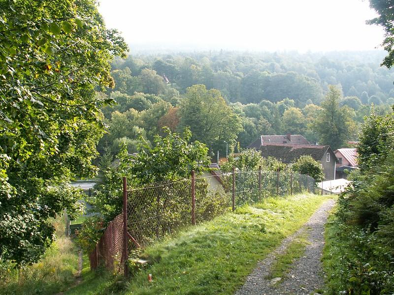 Zejście do doliny Kwisy w Świeradowie-Zdroju