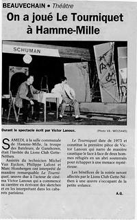 Le Tourniquet 16 janvier 1999