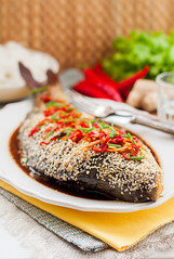 Asian Style Baked Fish With Chili, Ginger and Soy…