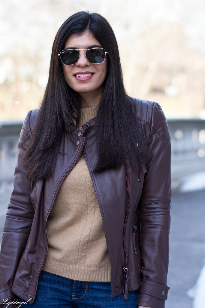 brown leather jacket, tan sweater, nude laceup flats-6.jpg