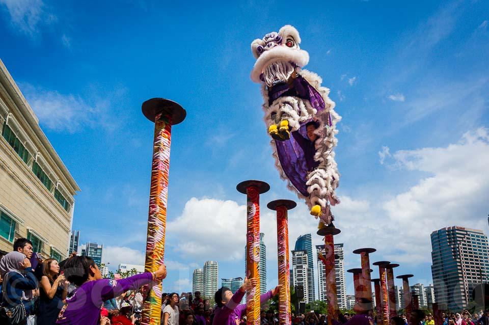 Acrobatic Lion Dance @ Kuala Lumpur, Malaysia