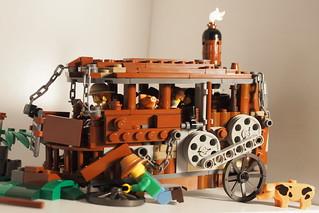 Lego Steampunk VW Microbus