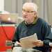 John Cobb in rehearsals for I Am Thomas, Copperfield Rehearsal Rooms