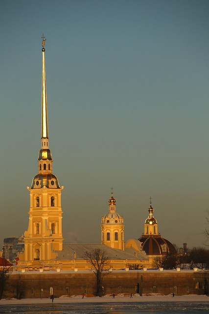 Looking to the Peter and Paul Fortress