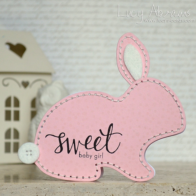 Baby Bunny Shaped Card by Lucy Abrams