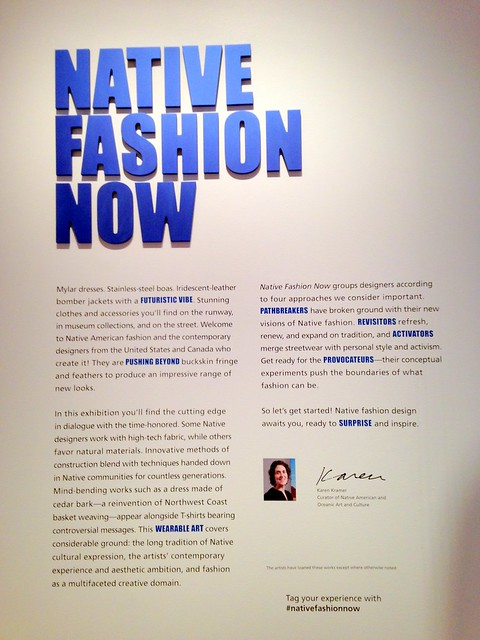 Native Fashion Show, Peabody Essex Museum
