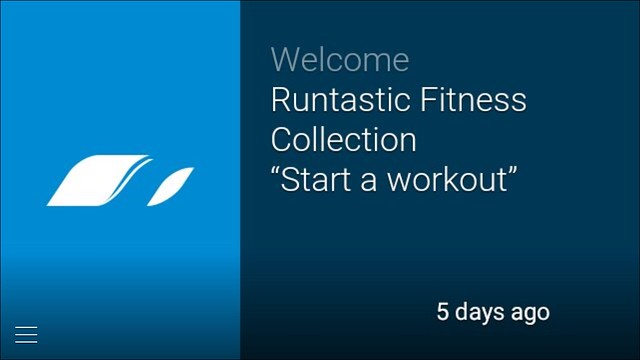 Runtastic Fitness on Google Glass