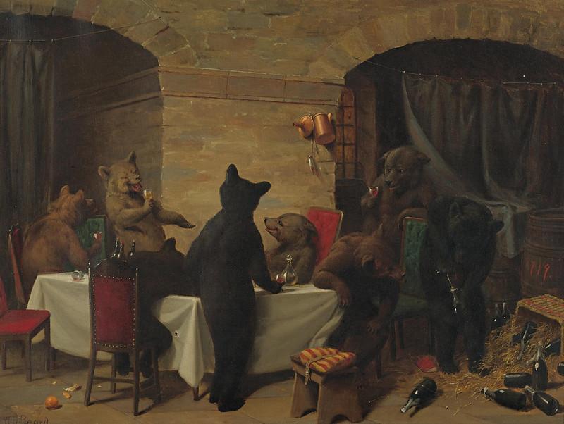 William Holbrook Beard - Bear Carousal, 1870