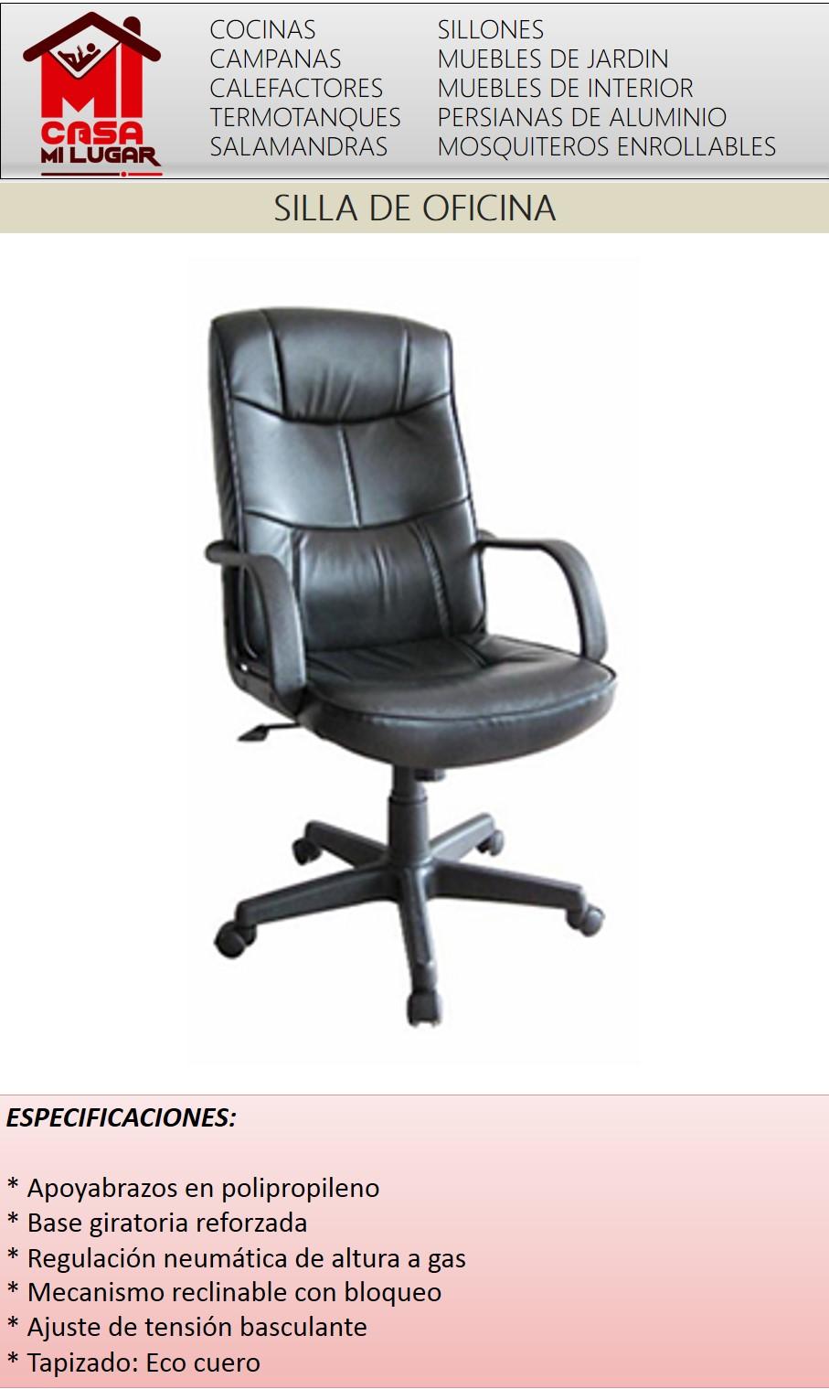 Silla de oficina gerencial alta reclinable reproex s for Sillas de oficina altas