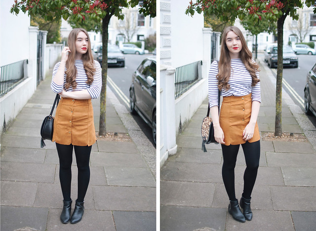 sheinside suede skirt 1