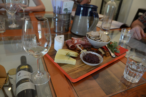 Meat and Cheese Board at Fox Creek Winery