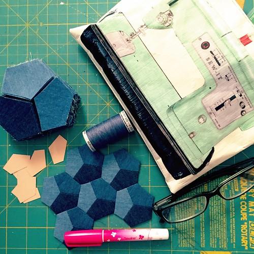 Denim Hexagons