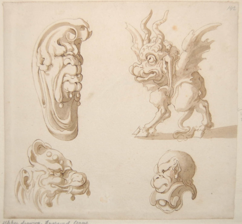 Arent van Bolten - Monster 142, from collection of 425 drawings, 1588-1633