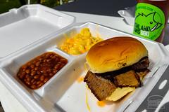 Pop up BBQ! Brisket Sandwich, BBQ Beans, and Mac a…