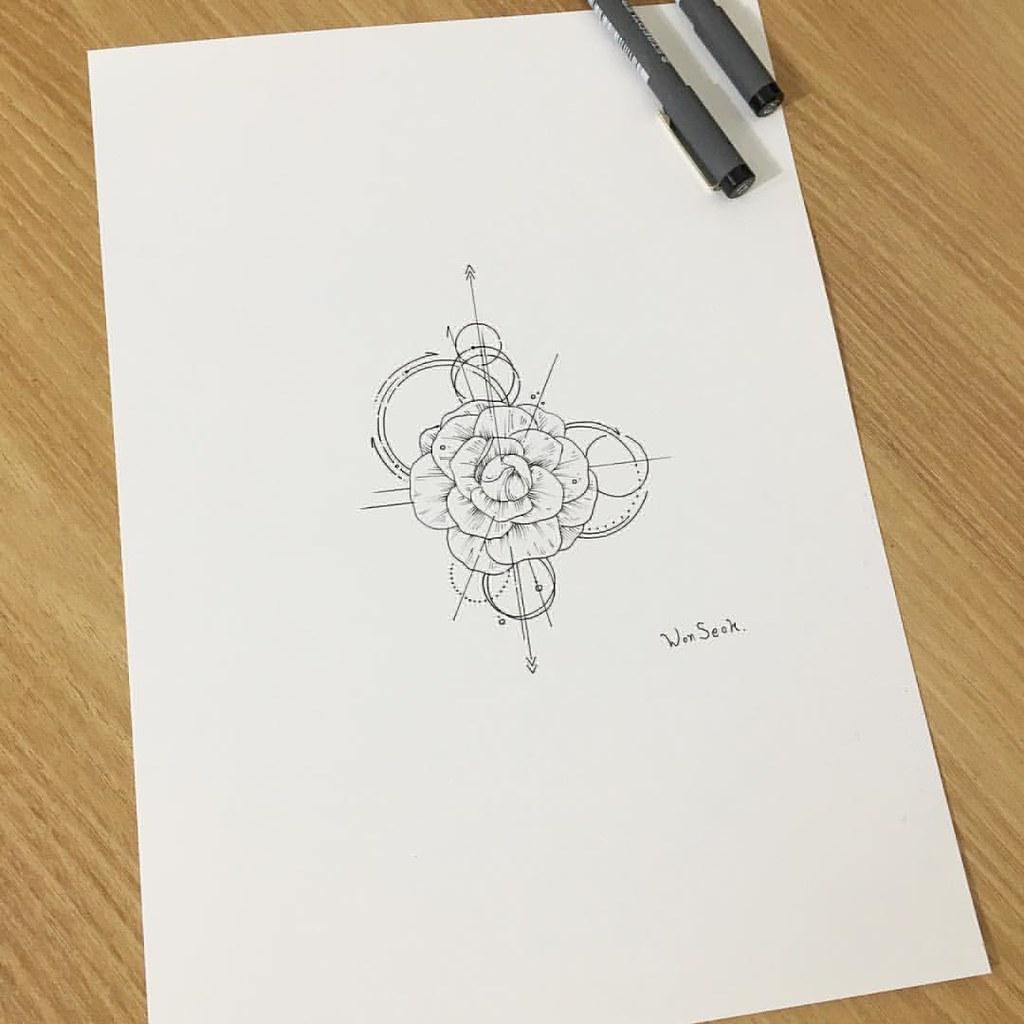 Camellia Flower Line Drawing : ∥camellia flower∥동백꽃∥카멜리아∥ 내일 오전 작업💖 illust tattoo