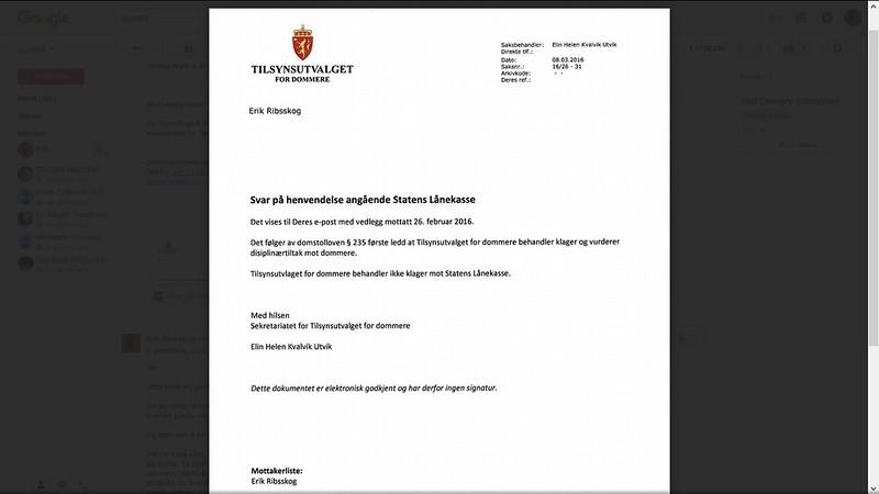 tilsynsutvalget e-brev