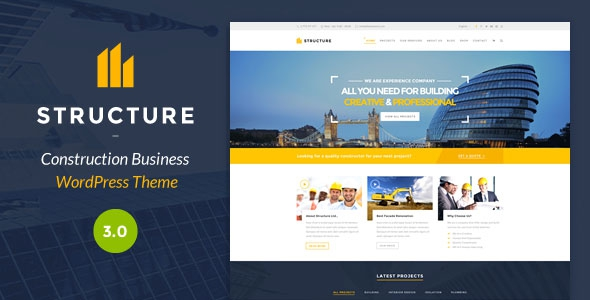Structure v4.0 – Construction WordPress Theme