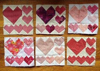 The beginnings of my own personal journey. Friendship blocks from some of the Quiltin' Babes. More to come and I think I will make a few myself.