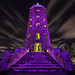 prince purple - minnesota duluth engler tower - night stars by Dan Anderson.
