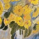 Sonnenblumen, Ölmalerei