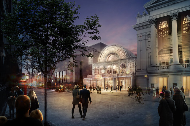 Proposal for the renovated Bow Street entrance © Stanton Williams / ROH 2016