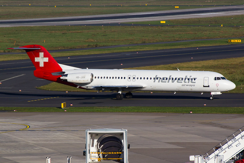 Helvetic Airways - F100 - HB-JVH (1)