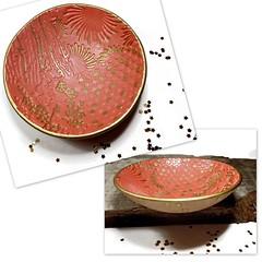 polymer clay Sunset Custom Wedding Ring Dish