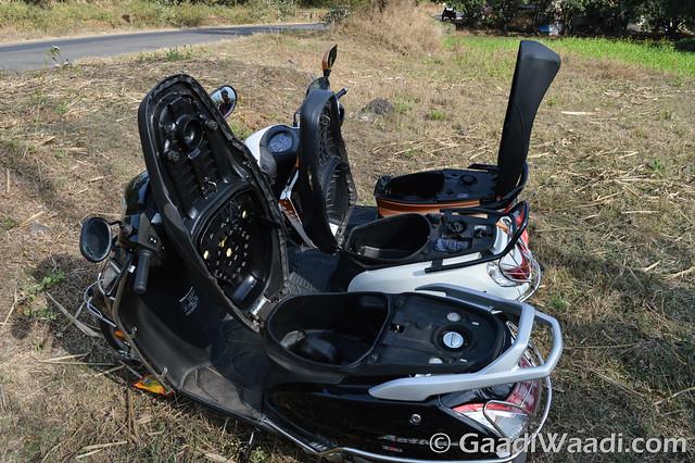 Mahindra Gusto125 vs Activa125 vs Suzuki access 125 -11