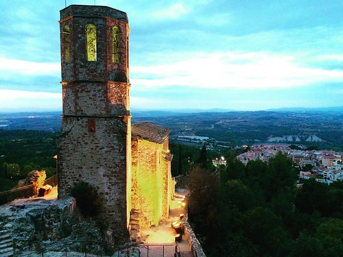 #Gelida al capvespre des del #Castell @castellgelida #Penedès