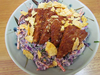 BBQ Tempeh 'N' Dilly Slaw Bowl