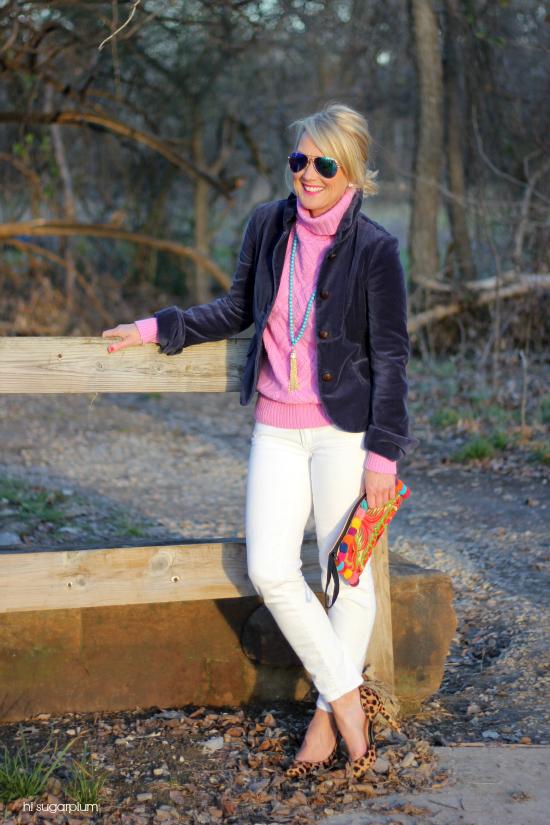 Hi Sugarplum | White Jeans in Winter