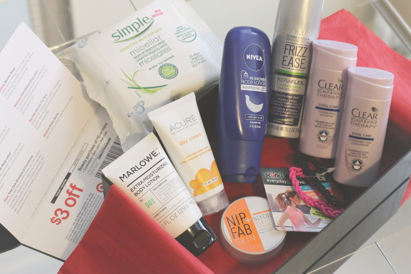 Target Beauty Box unboxing, beauty products