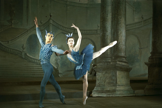 Alexis Rassine and Violetta Prokhorova (Elvin) as the Blue Birds in The Sleeping Beauty (1946), Sadler's Wells Ballet (later The Royal Ballet). Photograph by Frank Sharman © ROH