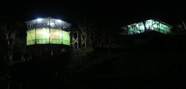 amazon tupana lodge at night