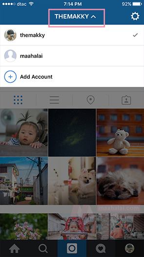 instagram add account