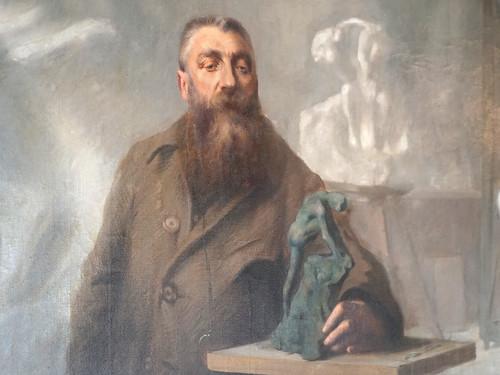 Rodin dans son atelier par René Avigdor (Musée Rodin, Paris)