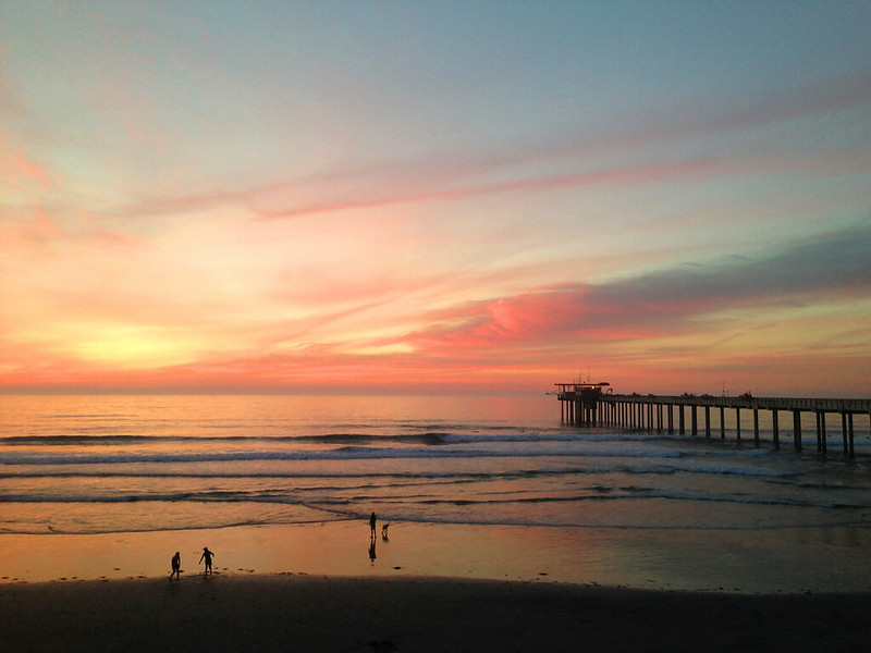 Sunset at Scripps by Ellen Jacobs