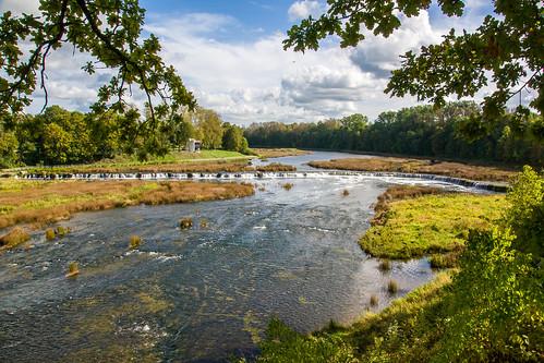 autumn town sony latvia ruduo latvija kuldiga waterfals mariukasm sal16105 miesteliai vietovės krioklai